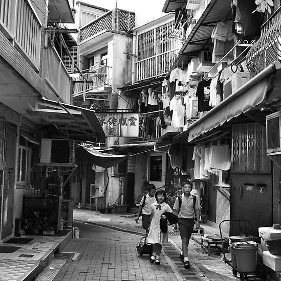 School children, Sai Kung, Hong Kong by Cara Gallardo Weil