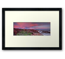 Boat Harbour Sunset Panorama Framed Print