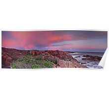 Boat Harbour Sunset Panorama Poster