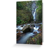 Grey Mare's Tail, Kinlochleven Greeting Card