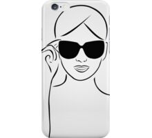 Style with shades iPhone Case/Skin