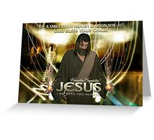Jesus, God bless your child! Greeting Card