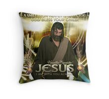 Jesus, God bless your child! Throw Pillow