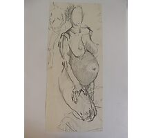 PENCIL NUDE 4 IN BLOOM Photographic Print