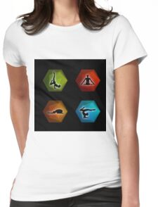 Yoga pilates set on geometric shapes  Womens Fitted T-Shirt