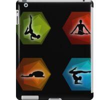 Yoga pilates set on geometric shapes  iPad Case/Skin