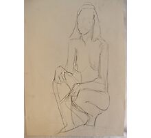 PENCIL NUDE 2 Photographic Print