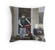 A Bike Ride Coming Right Up Throw Pillow