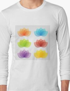 Graceful lotus with 5 petals  Long Sleeve T-Shirt