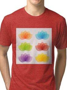 Graceful lotus with 5 petals  Tri-blend T-Shirt