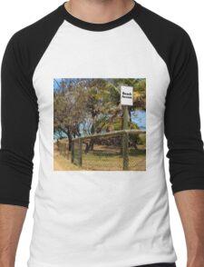 Beach Access Sign and Path Men's Baseball ¾ T-Shirt