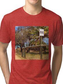 Beach Access Sign and Path Tri-blend T-Shirt