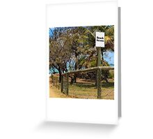 Beach Access Sign and Path Greeting Card