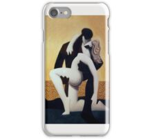 black, white and gold iPhone Case/Skin