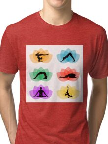 yoga and meditation Tri-blend T-Shirt