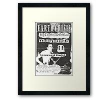 by the grace of god floorpunch cr ten yard fight show flyer Framed Print
