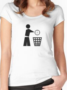 Throw away your time Women's Fitted Scoop T-Shirt