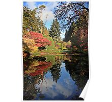Autumn reflections at Butchart Gardens Poster