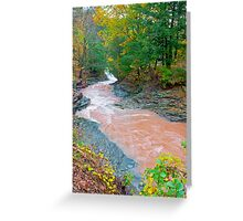 HOW SWIFT THE RIVER FLOWS Greeting Card