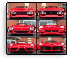 Ferrari Icons Canvas Print