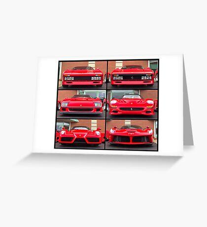 Ferrari Icons Greeting Card