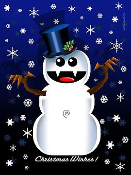 SNOWMAN by peter chebatte