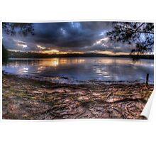 Last Light - Narrabeen Lakes, Sydney Australia - The HDR Experience Poster