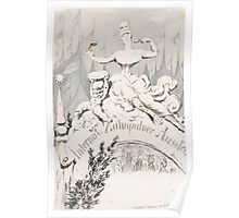 Adolf Oberländer or Oberlander A baroque sculpture forming an allegory Poster