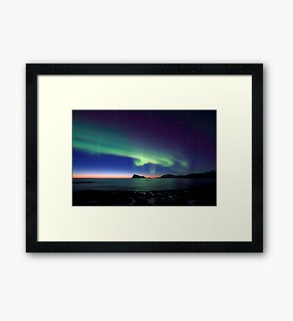 Aurora Borealis over Haja island -II Framed Print