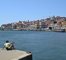 Contemplating the Ribeira of Oporto by MONIGABI