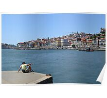 Contemplating the Ribeira of Oporto Poster