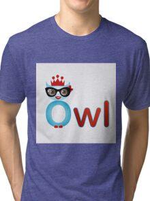 Friendly owl wisdom Tri-blend T-Shirt