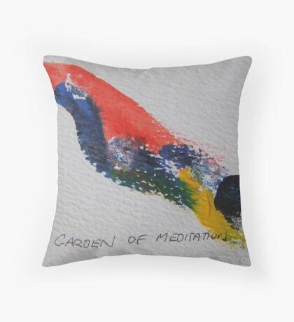 Garden of Meditation Throw Pillow