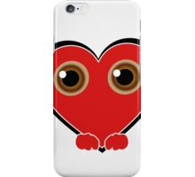 Friendly red heart iPhone Case/Skin