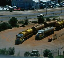 Austrailian Desert Truck Trains by BearheartFoto