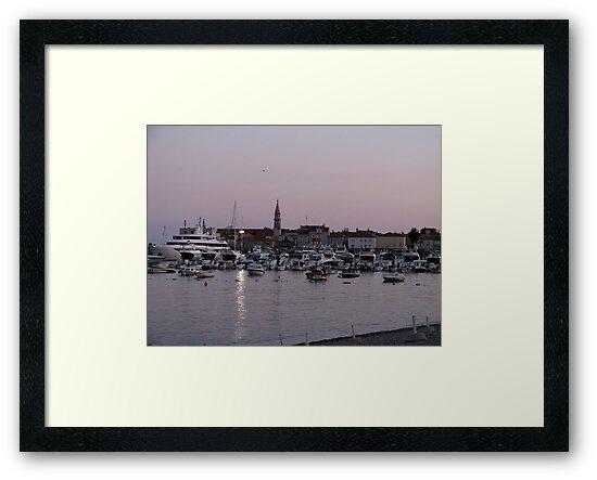 Budva Harbour at sunset by Elena Skvortsova