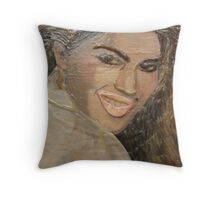 TWISTED CINDY 6 Twisted Portrait Throw Pillow