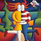 Moonlite lovers avec angel by Alan Kenny