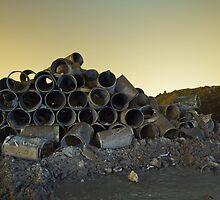 Barrels at Night by Ian  Pearce