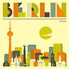BERLIN CITY SKYLINE  by JazzberryBlue