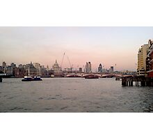 London Skyline in Evening Photographic Print