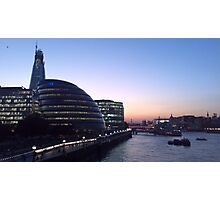 London Skyline in Evening Photographic Print