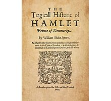 Shakespeare, Hamlet 1603 Photographic Print