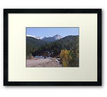 Cripple Creek after first snow fall Framed Print