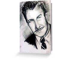 Vincent Price by Becca Greeting Card