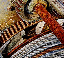 A rusty winch by buttonpresser