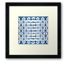 Barbed Wire in Indigo Framed Print