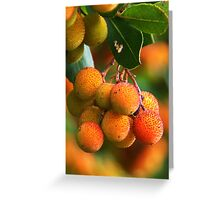 Strawberry Tree Fruits Greeting Card