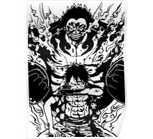 Luffy Gear 4 Transformation Poster