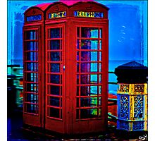 Red Phone Boxes Photographic Print